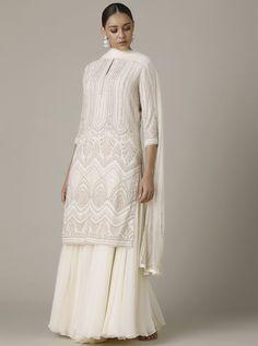 Collage Outfits, Sharara, Asian Fashion, Fashion Forward, Lilac, Personal Style, Chiffon, Sequins, Ivory