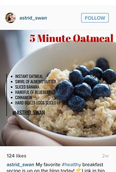 Quick and healthy breakfast recipe from celebrity personal trainer Astrid Swan