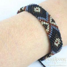 Bracelet brésilien noir marron gris et beige pour homme et femme ...