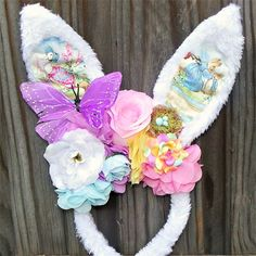 Woodland fairy abode bunny. Easter headbands 8baa7d0622f7