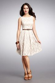 Eyelet Belted Girly Dress