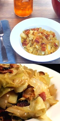 southern recipes Southern Fried Cabbage So simple yet absolutely ADDICTING! Bacon gives it the smoky flavor that is put over the top by a little bit of brown sugar and apple cider vinegar! Fried Cabbage Recipes, Cabbage And Bacon, Vegetable Recipes, Vegetarian Recipes, Healthy Recipes, Cabbage And Apple Recipe, Healthy Food, Fried Cabbage And Potatoes, Cabbage And Noodles