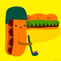 sandwich hockey #gif by Cindy Suen