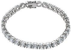 "Sterling Silver Round-Cut Cubic Zirconia Tennis Bracelet, 7.25"" Amazon Curated Collection, http://www.amazon.com/dp/B000NGOHWI/ref=cm_sw_r_pi_dp_krhHqb04NNG6N"