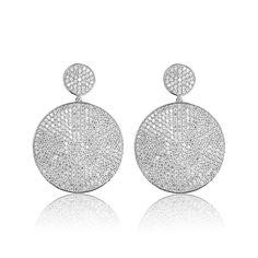 Cercei argint Surub Drop Earrings Zirconii Cod TRSE093