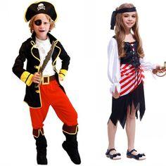 Enfants garçons pirate costumes/cosplay costumes pour garçons/halloween cosplay costumes pour enfants/enfants cosplay Fille costumes