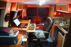 Man's DIY Stealth Camper Van with a Mobile Office Inside