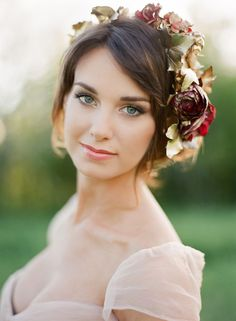 Holiday Inspired Flower Headpieces for the Bride - Mon Cheri Bridals