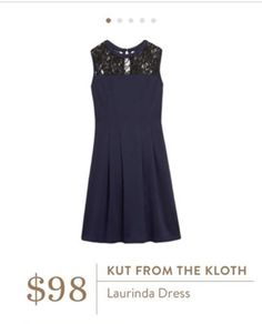 Stylist - I love the lace detail on this Kut from the Kloth dress!