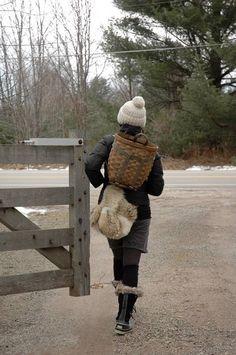 Basket backpack....so cute.