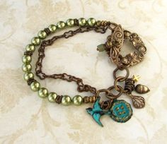 Woodland Bracelet $42.00, via Etsy.