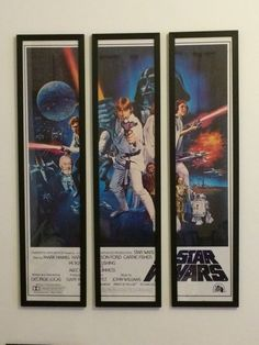 """STARWARS  """" A NEW HOPE """" FRAMED 3 PIECE POSTER BY framesbymarvel Mark Hamill, A New Hope, Carrie Fisher, Marvel Dc, Star Wars, Baseball Cards, Comics, 3 Piece, Frame"""
