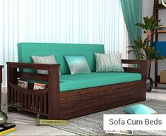 Buy Thar Sofa Cum Bed (Queen Size, Honey Finish) Online in India - Wooden Street Sofa Price, Sofa Come Bed, Leather Sofa Bed, Sofa Design, Sofa, Furniture, Single Sofa Bed, Bed Linens Luxury, Buy Sofa
