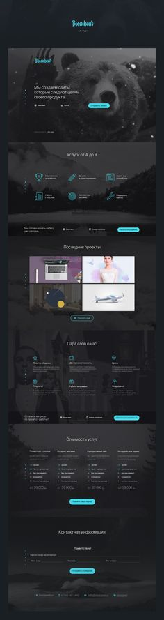 Boombear ─ веб-студия on Behance