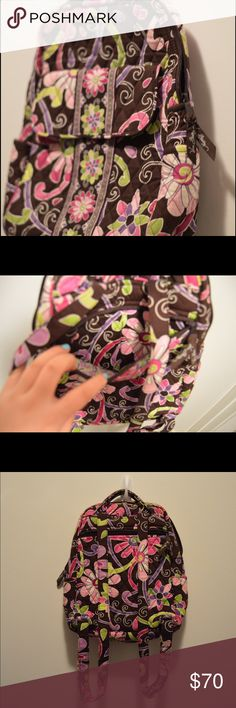 Vera Bradley Mini Backpack 100% Authentic Vera Bradley Mini Backpack. Bought orignally at Hallmark. Gently used, in great condition. No stains, rips, or tears. Vera Bradley Bags Backpacks