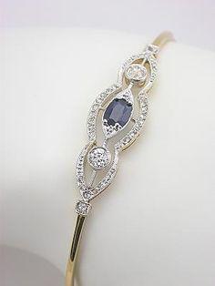 Edwardian Sapphire and Diamond Antique Bracelet