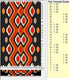 28 tarjetas, 6 colores, secuencias 4F-4B // sed_277 diseñado en GTT༺❁