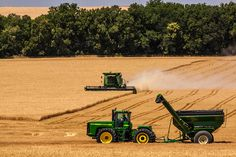 """""""Kansas Harvest - Harvesting Wheat"""" Lenexa, Kansas. Like, comment or share to vote! The top 10 photos will advance to the final rounds!"""