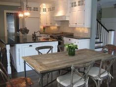 Eat In Kitchens On Pinterest Flat Irons Dining Tables