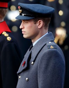 Prince William, Duke of Cambridge attends the annual Remembrance Sunday Service at the Cenotaph on Whitehall on November 13, 2016 in London, England.