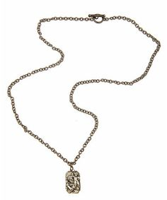 Long St. Christopher – Nice Necklace  $169.00 Birthday Fashion, Saint Christopher, Cool Necklaces, Clothing Ideas, Birthdays, Pendant Necklace, My Style, Nice, Jewelry