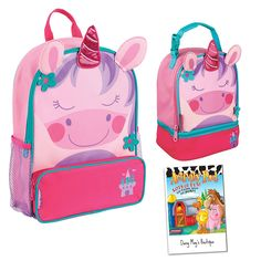 Stephen Joseph Girls Sidekick Unicorn Backpack and Lunch Pal with Activity Pad ** Special product just for you.