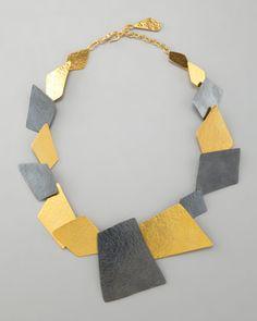 Angular Square Necklace by Herve Van Der Straeten at Neiman Marcus.