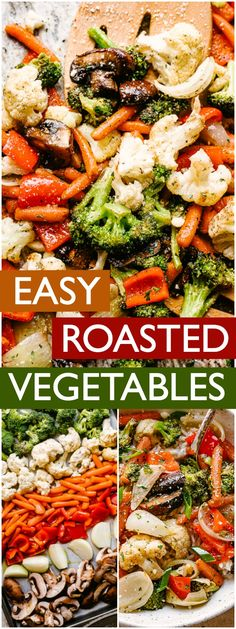 Oven Roasted Vegetables are a quick and easy 20 minute side-dish that is also healthy, tasty, and great served alongside meat, fish, or rice. Side Dishes For Fish, Side Dishes Easy, Sides With Fish, Healthy Side Dishes, Vegetable Sides, Vegetable Recipes, Easy Vegetable Side Dishes, Sauteed Vegetables, Eating Clean