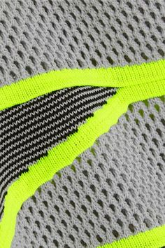 Pale-gray, neon-yellow and black knitted polyester Slips on polyester Dry clean Designer color: Thunderbolt