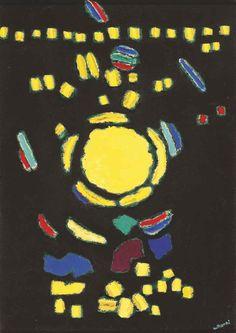 (Korea) by Whanki Kim (1913- 1974). Oil on canvas.