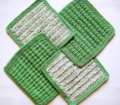 Dish Cloths Hand Knit & Crocheted Soft Kitchen by CozyKitchenKnits, $15.00
