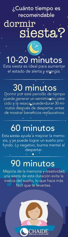 ¿Cuánto tiempo es recomendable dormir la siesta? #siesta #dormir #descanso