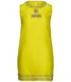 H Conscious Collection neon yellow dress
