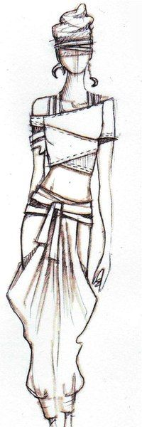 I think fashion illustration is cool! These drawings make people's bodies look as if they ar. Fashion Illustration Sketches, Fashion Sketchbook, Fashion Design Sketches, Drawing Fashion, Paper Fashion, Diy Fashion, Trendy Fashion, Dress Sketches, Illustrators