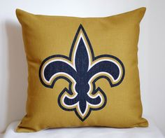 NFL New Orleans Saints pillow New Orleans by DecorPillowStore