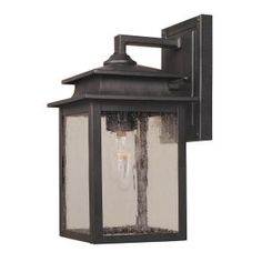 World Imports, Sutton Collection 1-Light Outdoor Rust Wall Sconce, WI910542 at The Home Depot - Mobile