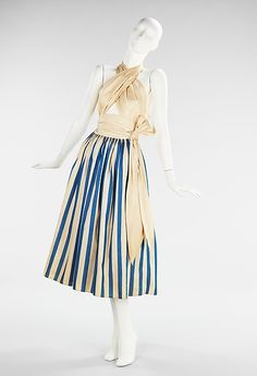 Claire McCardell (American, 1905–1958). Sundress, 1945. The Metropolitan Museum of Art, New York. Brooklyn Museum Costume Collection at The Metropolitan Museum of Art, Gift of the Brooklyn Museum, 2009; Gift of Claire McCardell, 1956 (2009.300.230)