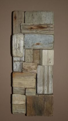 Driftwood Wall Art, this would be cute DIY add some hooks and make it a coat rack/hat rack