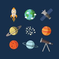 Outer space wall decals, Baby wall decals, Boy's room decal, Planet decals…