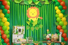 A jungle and very colorful weekend celebrating the first year of Irai. Book Birthday Parties, Safari Theme Birthday, Jungle Theme Parties, Wild One Birthday Party, Safari Birthday Party, Baby Boy 1st Birthday, Animal Birthday, Diy Birthday Decorations, Baby Shower Decorations
