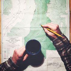 hatchetcoffee:  Adventure ahead but first, coffee. #chemex...