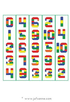 Starterset Cijfers – Juf Sanne Lego Duplo, Lego Themed Party, Lego Birthday Party, Toddler Learning Activities, Preschool Activities, Space Activities, Legos, Lego Letters, Lego Therapy