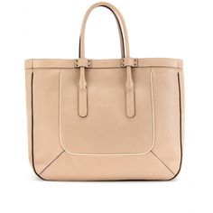 Chloé / Leather tote with piped trim