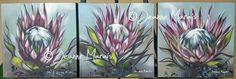 Protea Art, Canvases, Artist, Flowers, Plants, Painting, Ideas, Decor, Abstract Flowers