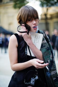 cool On the Street…At Valentino, Paris