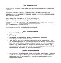 Cancer obituary template for microsoft word eulogies for Eulogy template for brother