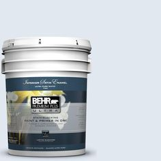 BEHR Premium Plus Ultra 5-gal. #M540-1 Bellflower Blue Satin Enamel Interior Paint
