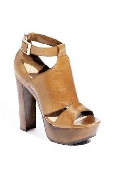 7699a11daaf Platform Shoes Leather Thick High Heel Sandals Open Toe Women Fashion Nude  Heels