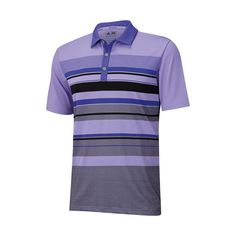 Find Adidas mens golf shirts and more at OnlyGolfApparel, like the Adidas Climacool Graphic Chest Stripe Polo with a Birdseye and solid stripe on front body.