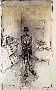 Giacometti...studied him in modern art history and saw his work in Dallas, TX.  Great sculptures.